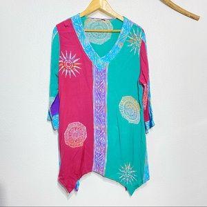 Soft Surroundings Tropical Mystik Batik Tunic